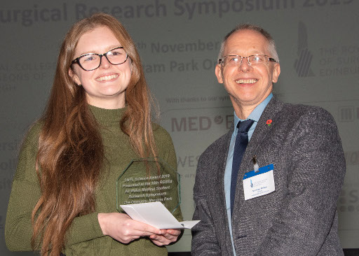 Ailish Williams receives her SMTL Good Science Award